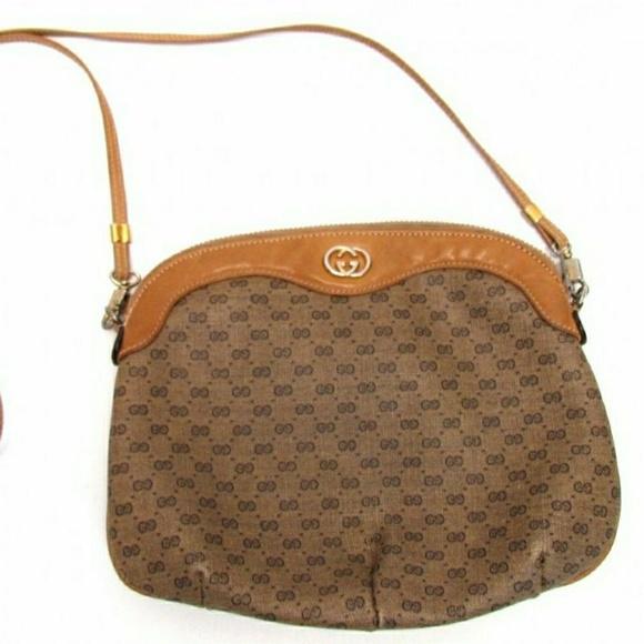 49612679c83 Gucci Bags | Vintage Tan Coated Canvas Purse | Poshmark